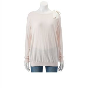Lc Lauren Conrad Bow Tunic Sweater